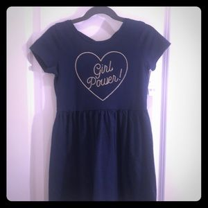 Carters navy blue Girl Power dress